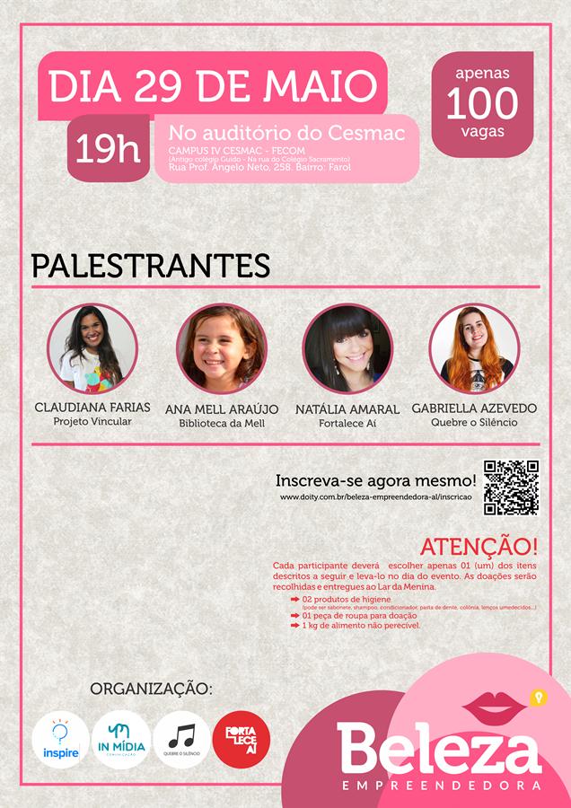 Em novo formato, Beleza Empreendedora promove circuito de palestras e ação social no Lar da Menina