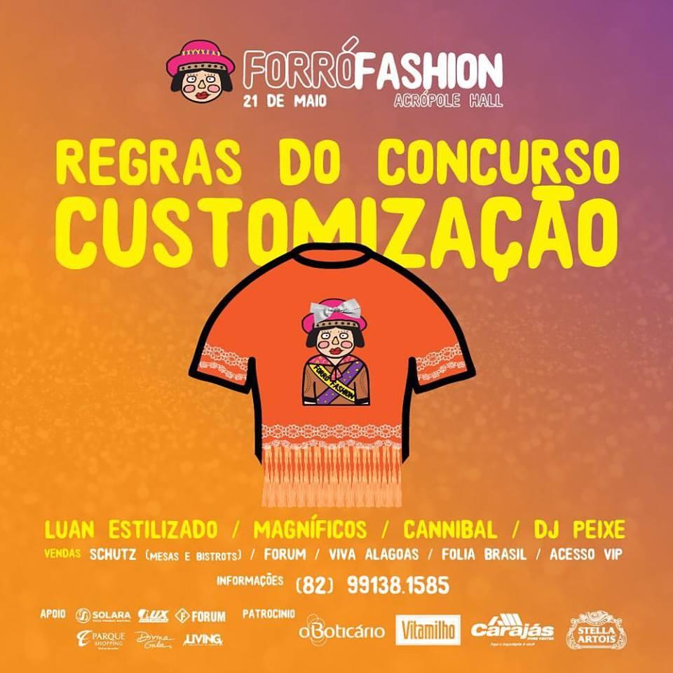 Concurso de customização do Forró Fashion vai sortear  viagens
