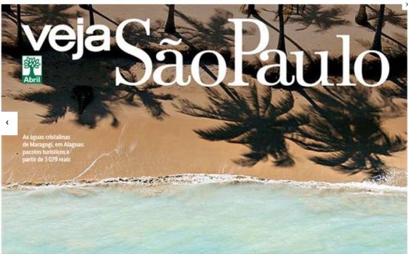 Maragogi é capa da edição de verão da revista Veja São Paulo