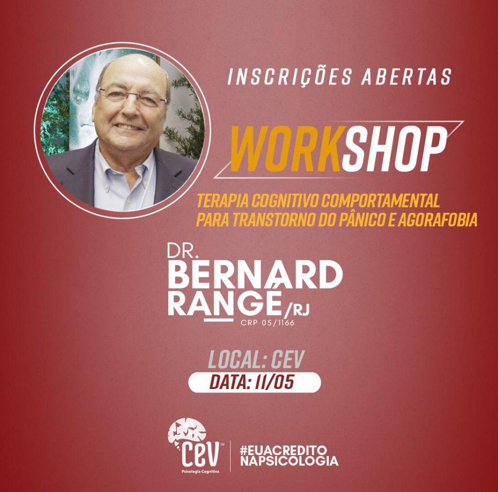 Bernard Rangé chega a Maceió para falar sobre Transtorno de Pânico e Agorafobia