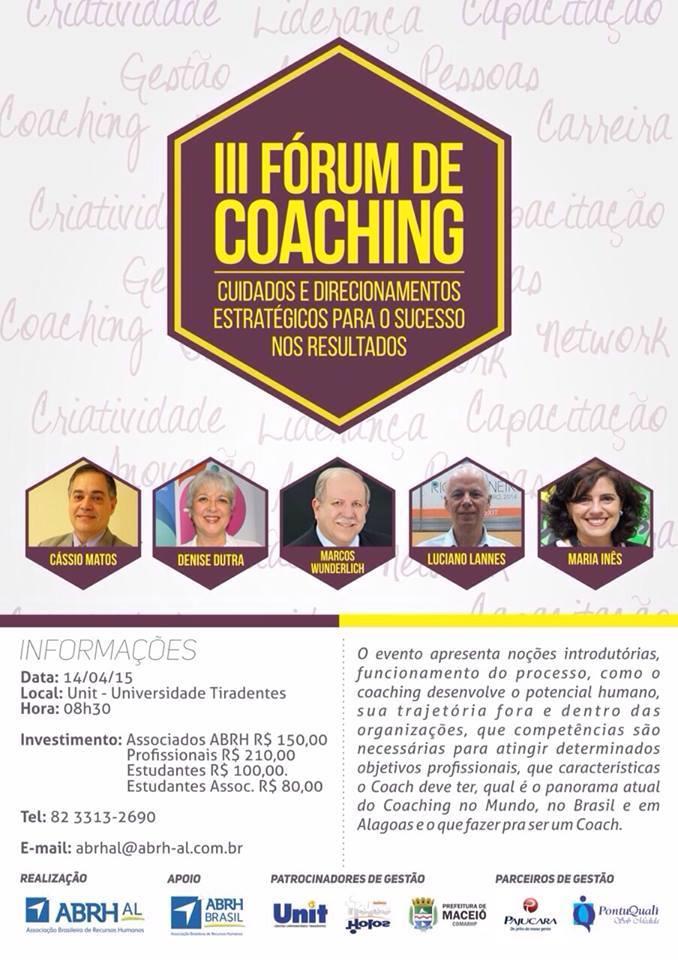 Fórum de Coaching chega a Maceió e traz Cássio Matos
