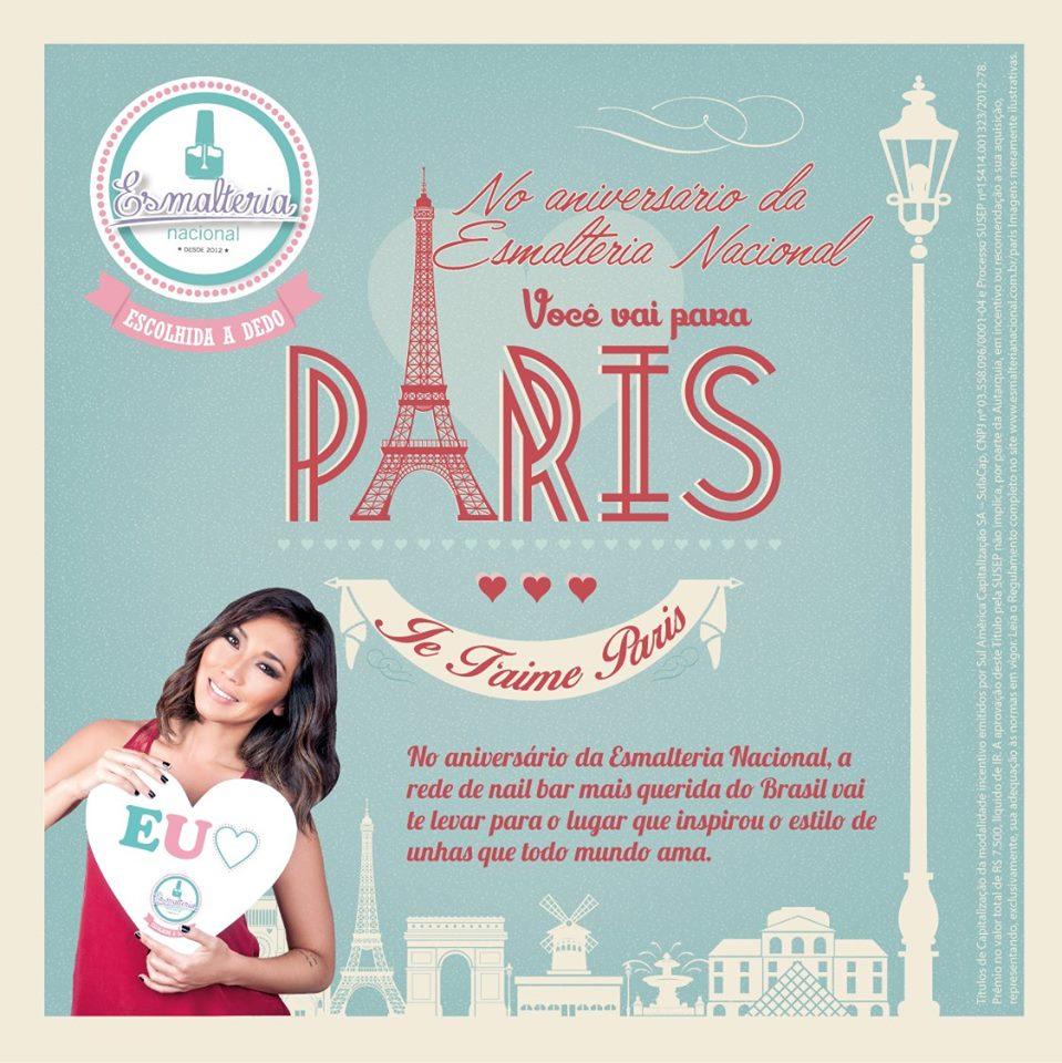 Esmalteria Nacional comemora três anos sorteando viagem a Paris